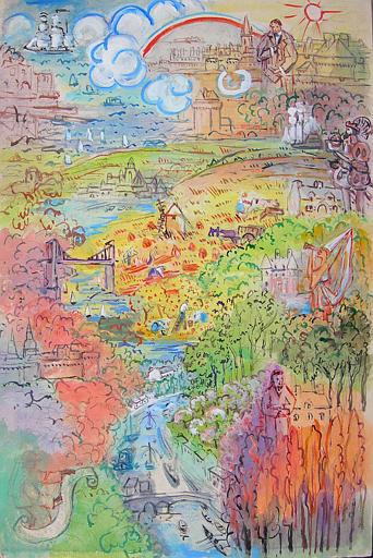La Rance : de sa source au Vieux-Pont de Dinan (projet décoratif) [titre attribué]_0