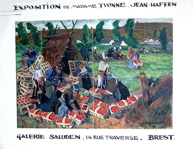 Affiche d'exposition : La cueillette à Plougastel [titre attribué]_0