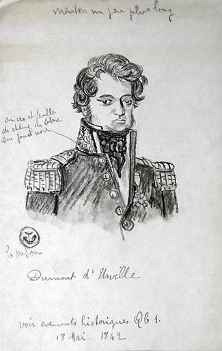 Portrait de Dumont d'Urville (esquisse) [titre attribué]_0