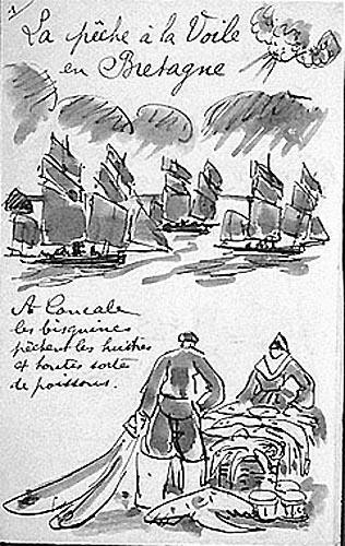 La pêche à la voile en Bretagne : projet de mise en page [titre attribué]_0
