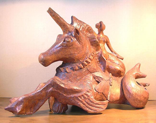 Licorne de mer portant une sirène [titre attribué]_0