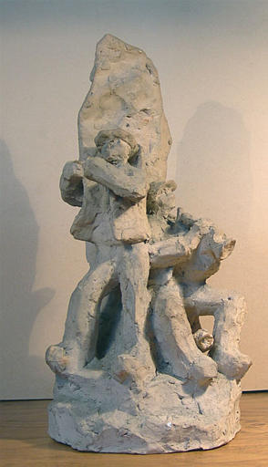 Danseurs bretons au pied d'un menhir [titre attribué]_0