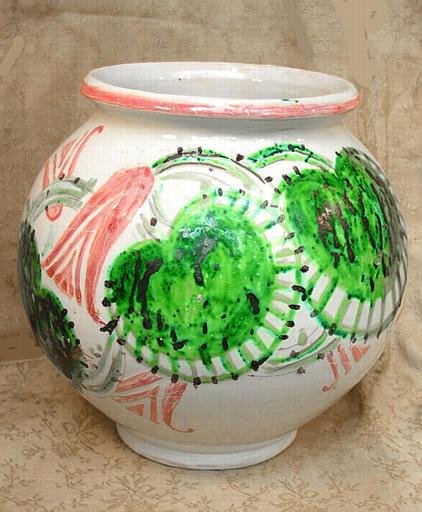 Vase à décor floral [titre attribué]_0