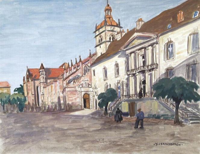Luxeuil : entrée du monastère [titre attribué]_0