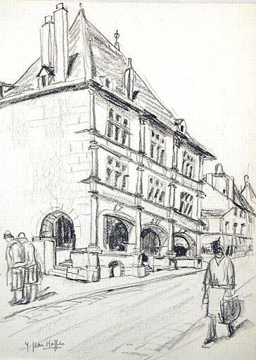 Luxeuil : maison de la Renaissance (esquisse) [titre attribué]_0