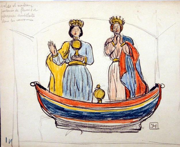 La barque des Saintes (étude) [titre attribué]_0