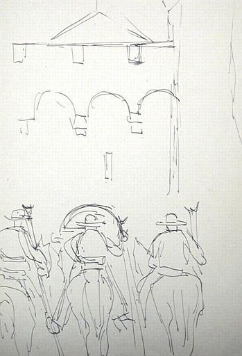 Trois gardians de Camargue [titre attribué]_0