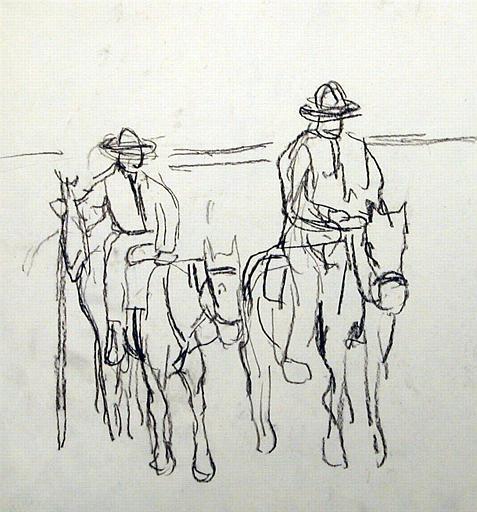 Deux gardians de Camargue (étude) [titre attribué]_0