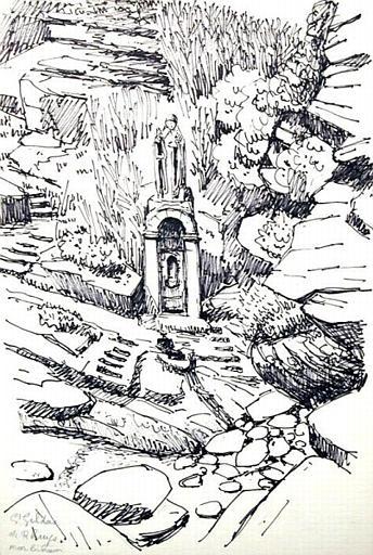 La fontaine sur la plage : St Gildas de Rhuys [titre attribué]_0