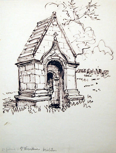 Saint Nicodème : la deuxième fontaine (esquisse, titre inscrit)_0