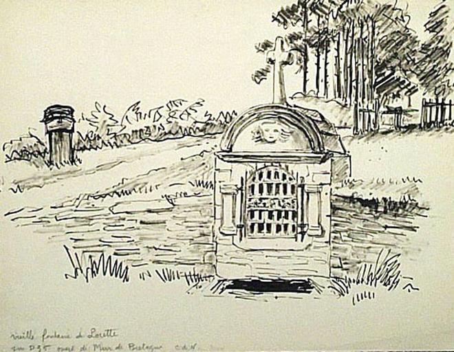 Fontaine de Lorette : près Mur-de-Bretagne [titre attribué]_0