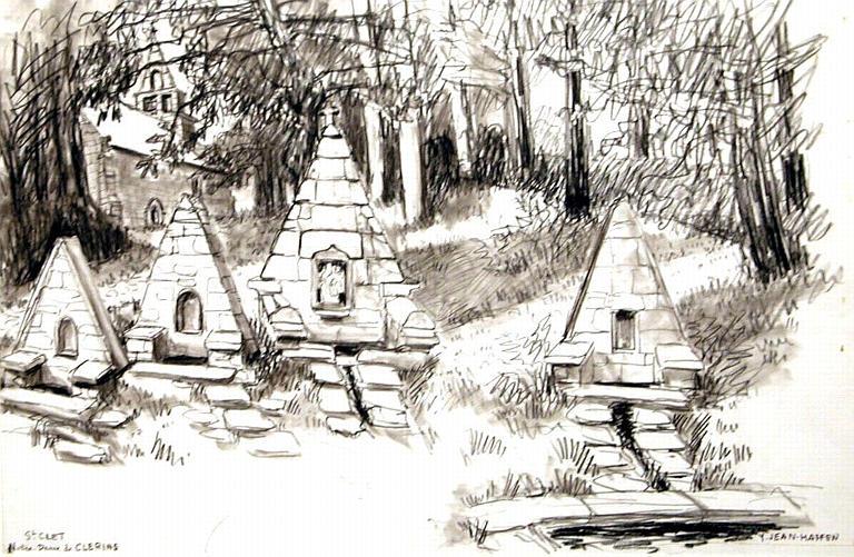 Fontaine de Notre Dame de Clérin à St Clet [titre attribué]_0