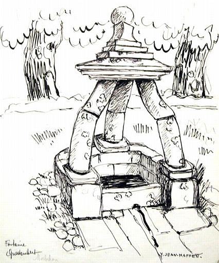 Fontaine à Questembert (esquisse) [titre attribué]_0