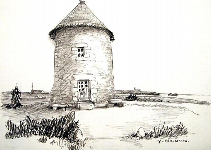 St Méloir des Ondes : moulin de la Gouesnière [titre attribué]_0