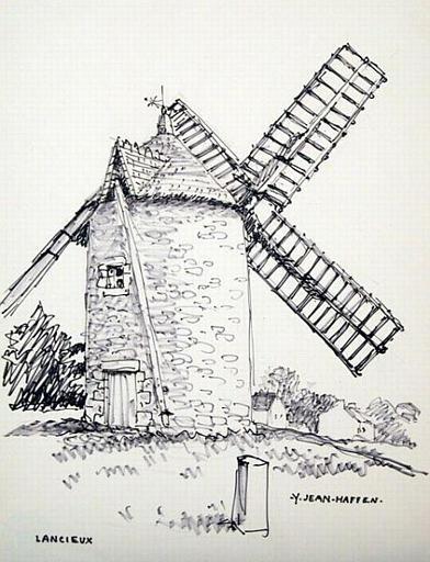 Lancieux : moulin complet vu de face [titre attribué]_0