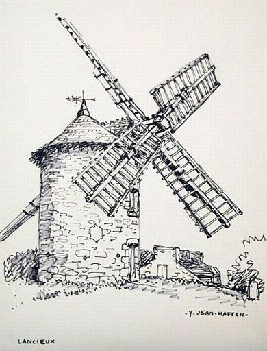 Lancieux : moulin vu de côté [titre attribué]_0