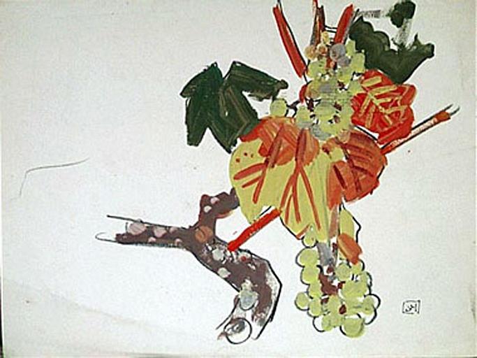 Grappe de raisins (étude) [titre attribué]_0