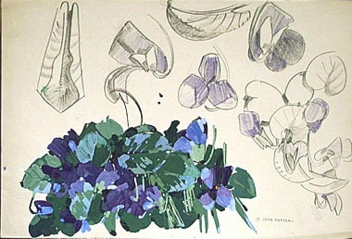 Violettes (étude) [titre attribué]_0