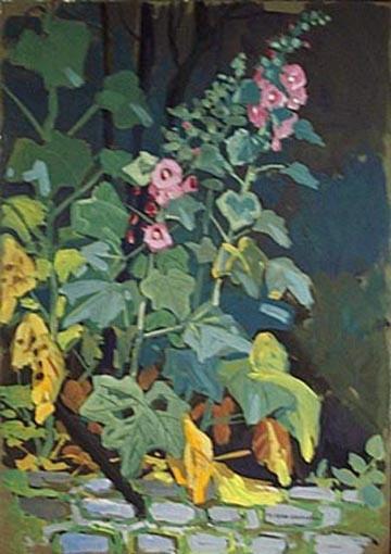 Roses trémières (étude) [titre attribué]_0