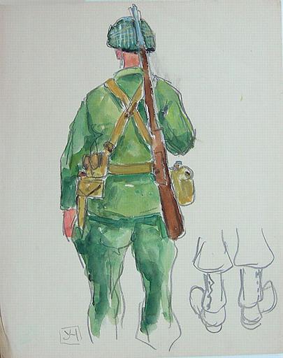 Soldat américain vu de dos (étude) [titre attribué]_0