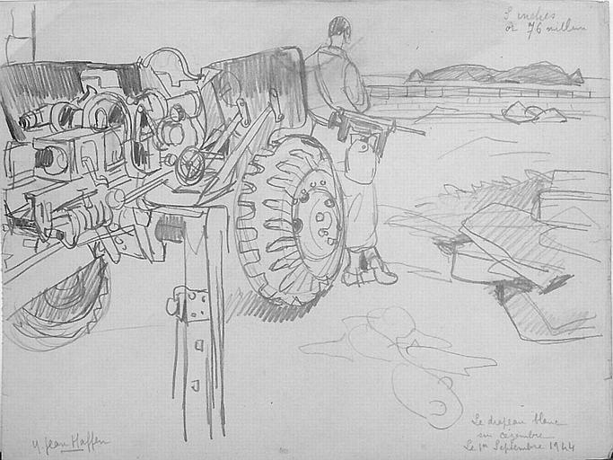 En attendant la rédition de Cézembre ; 1er Septembre 1944 [titre attribué]_0