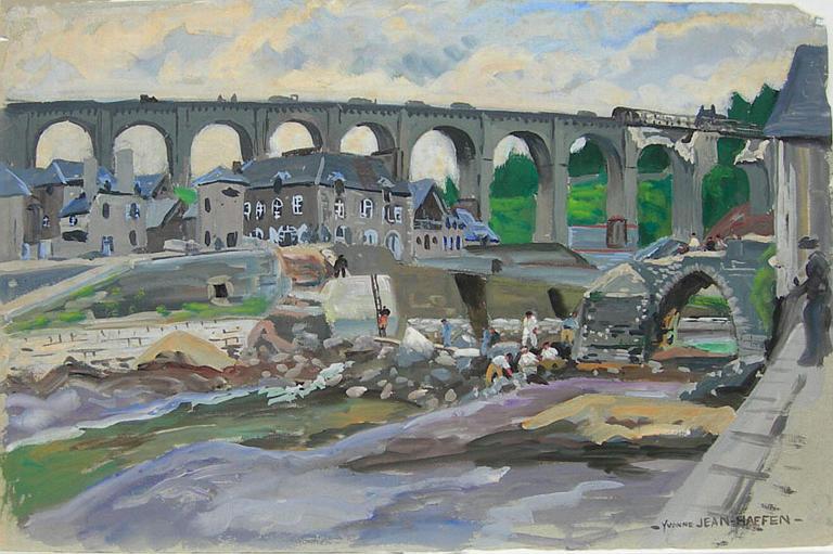 Dinan : vieux pont et viaduc détruits [titre attribué]_0