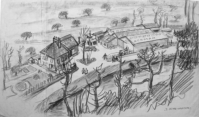 L'usine de paniers en bois déroulé Norman à la Courbure [titre attribué]_0