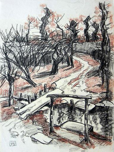 Ruisseau et passerelle de bois [titre attribué]_0