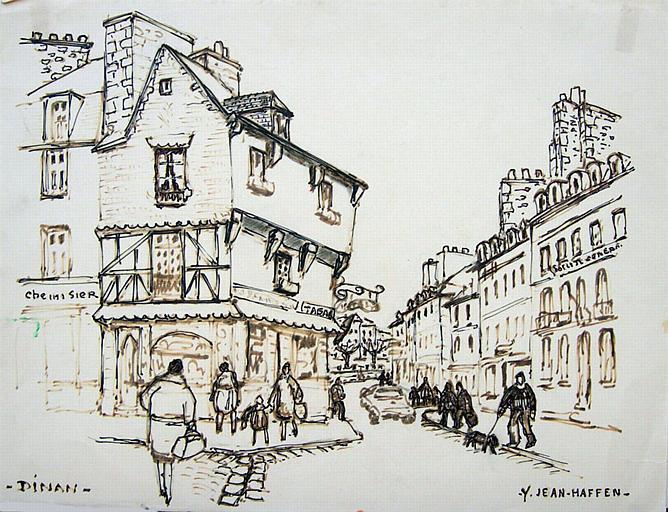 Maison à pans de bois 20 rue de la Ferronnerie (esquisse) [titre attribué]_0