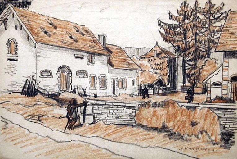Château de Fontenille : la ferme de la propriété [titre attribué]_0