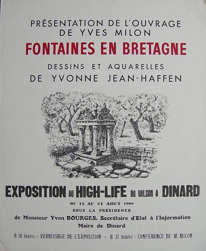 Dinard High-Life:Fontaines en Bretagne 1966 (exposition Yvonne Jean-Haffen) [titre attribué]_0