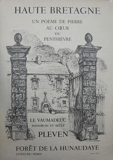 PLEVEN ; Le Vaumadeuc ; Affiche publicitaire noire [titre attribué]_0