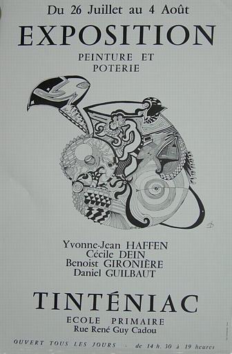 TINTENIAC ; Ecole Primaire ; Peinture et poterie ; Du 26 juillet au 4 août 1985 (exposition collective) [titre attribué]