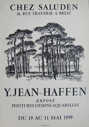 BREST ; Chez Saluden ; Du 19 au 31 mai 1959 (exposition Yvonne Jean-Haffen) [titre attribué]_0