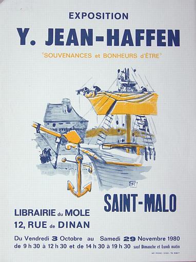 ST MALO ; Librairie du Mole ; Souvenance et bonheurs d'être ; Du 3 octobre au 29 novembre 1980. (exposition Yvonne Jean-Haffen) [titre attribué]_0