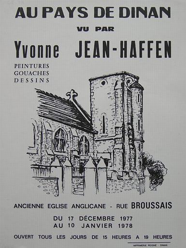 DINAN ; Eglise anglicane ; Au Pays de Dinan ; Du 17 décembre au 10 janvier 1978. (exposition Yvonne Jean-Haffen) [titre attribué]_0