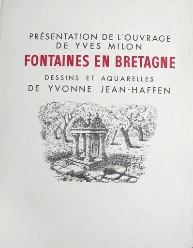 Fontaines en Bretagne (exposition Yvonne Jean-Haffen) [titre attribué]_0