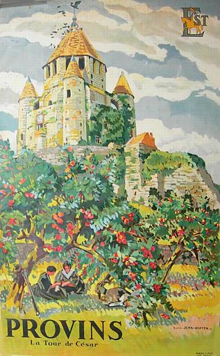 Provins, la tour de César, chemins de fer de l'Est [titre attribué]_0