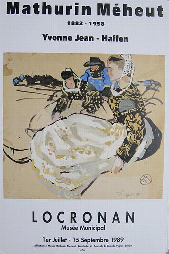 Locronan:Mathurin Méheut, Yvonne Jean-Haffen (expo d'oeuvres des deux artistes) [titre attribué]_0