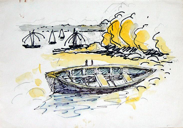 La pêche au carrelet dans l'estuaire de la Rance (A) [titre attribué]_0