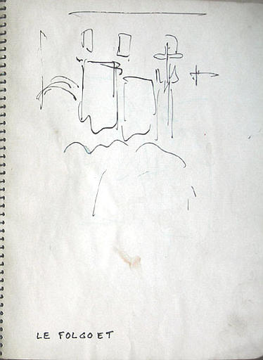 Pardons du Folgoët et de St Thégonnec : études de costumes, scènes processions et foires (A) [titre attribué]_0