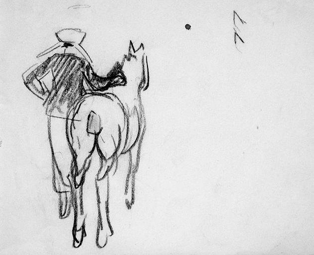 Foires aux chevaux en Trégor:costumes et attitude [titre attribué]_0
