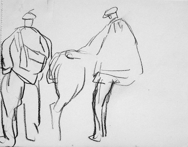 Pardon de Saint-Jean-du-Doigt : études de costumes [titre attribué]_0