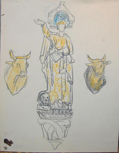 Statue de St Yves aux bestiaux:croquis [titre attribué]_0