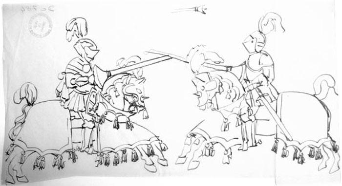 Décalques plans et scène, anciens documents [titre attribué]