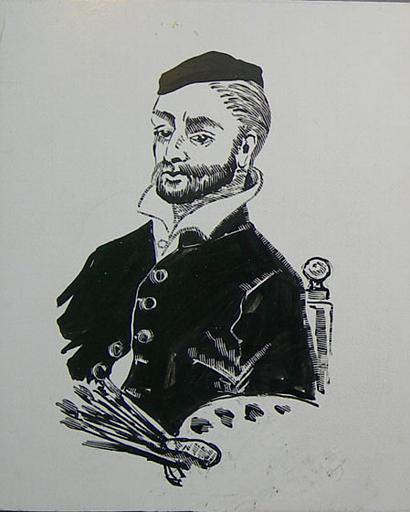 Copies de portraits divers : célébrités normandes (série A) [titre attribué]_0