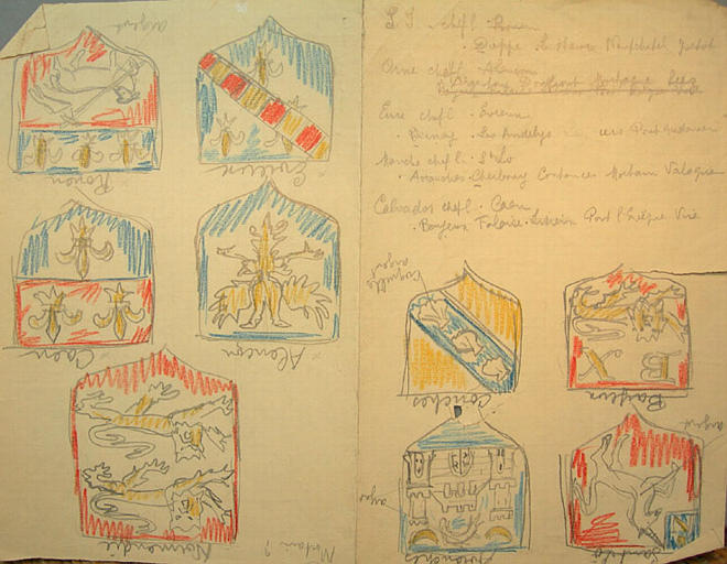 Recherches sur les armoiries:villes normandes [titre attribué]_0
