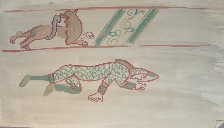Motifs de la tapisserie dite de la Reine Mathilde [titre attribué]_0