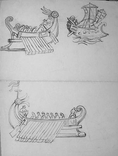 Motifs maritimes Vikings [titre attribué]