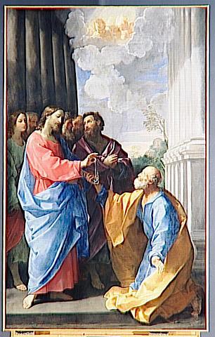 LE CHRIST REMETTANT LES CLES A SAINT PIERRE